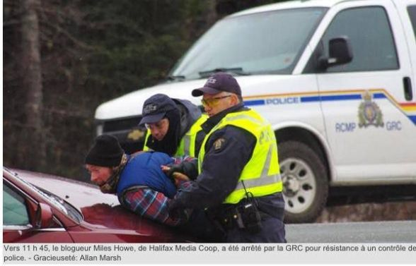 Journalist Miles Howe arrested for covering anti-fracking protests