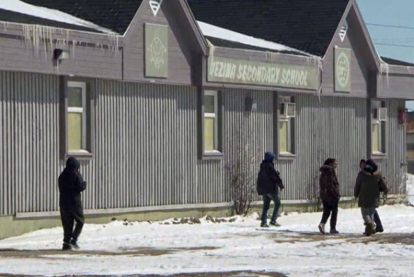 Walking near Attawapiskat high school