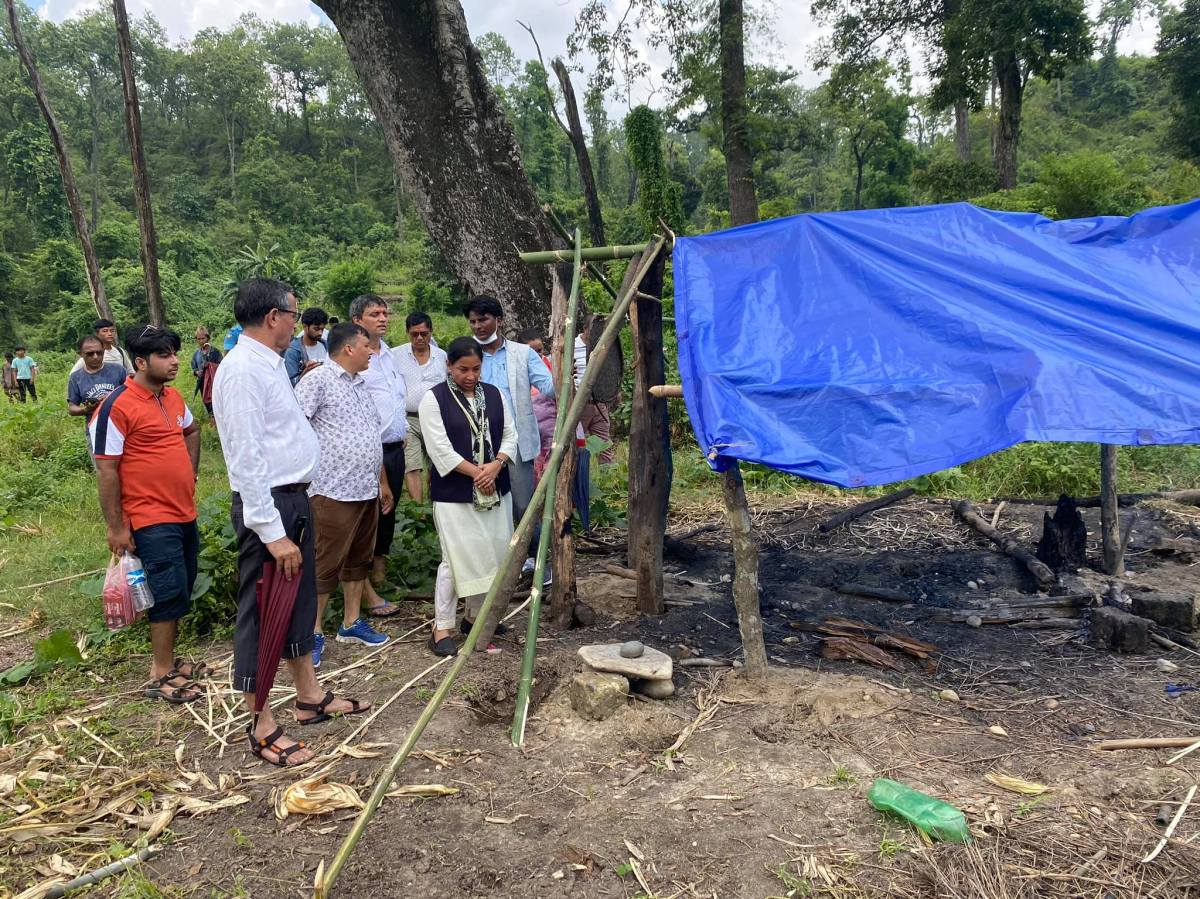 Government denies team destroyed Chepang houses in Chitwan NationalPark